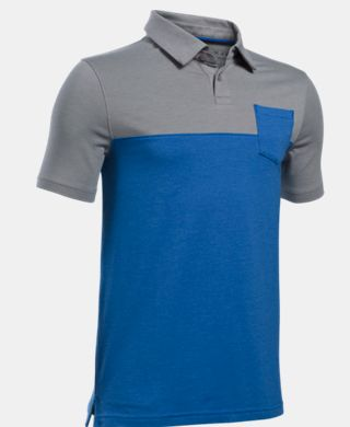 Boys' Charged Cotton Blocked Polo