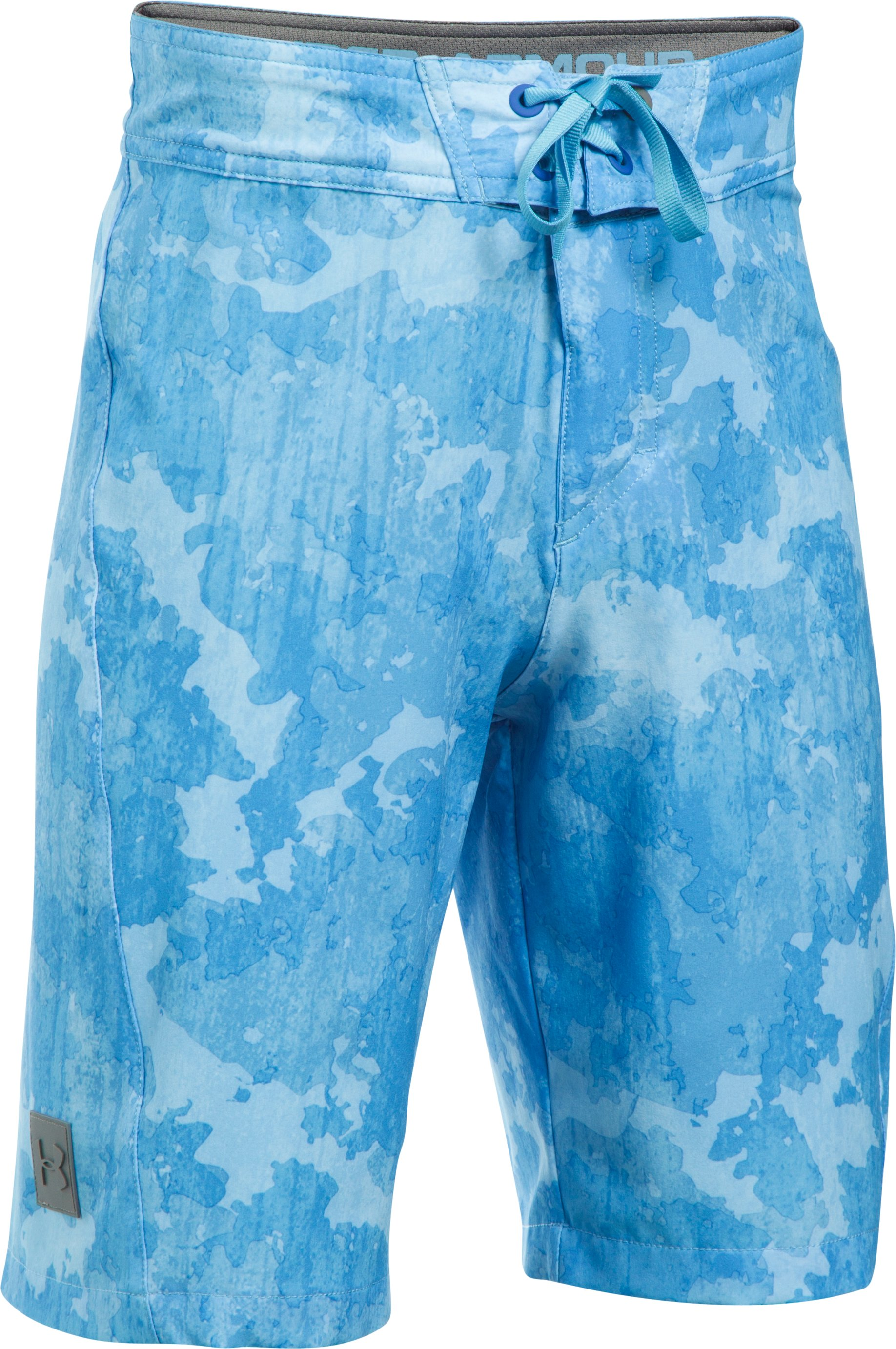 Boys' UA Printed Stretch Boardshorts, Carolina Blue