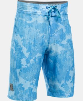 Boys' UA Printed Stretch Boardshorts  1 Color $22.5 to $26.99