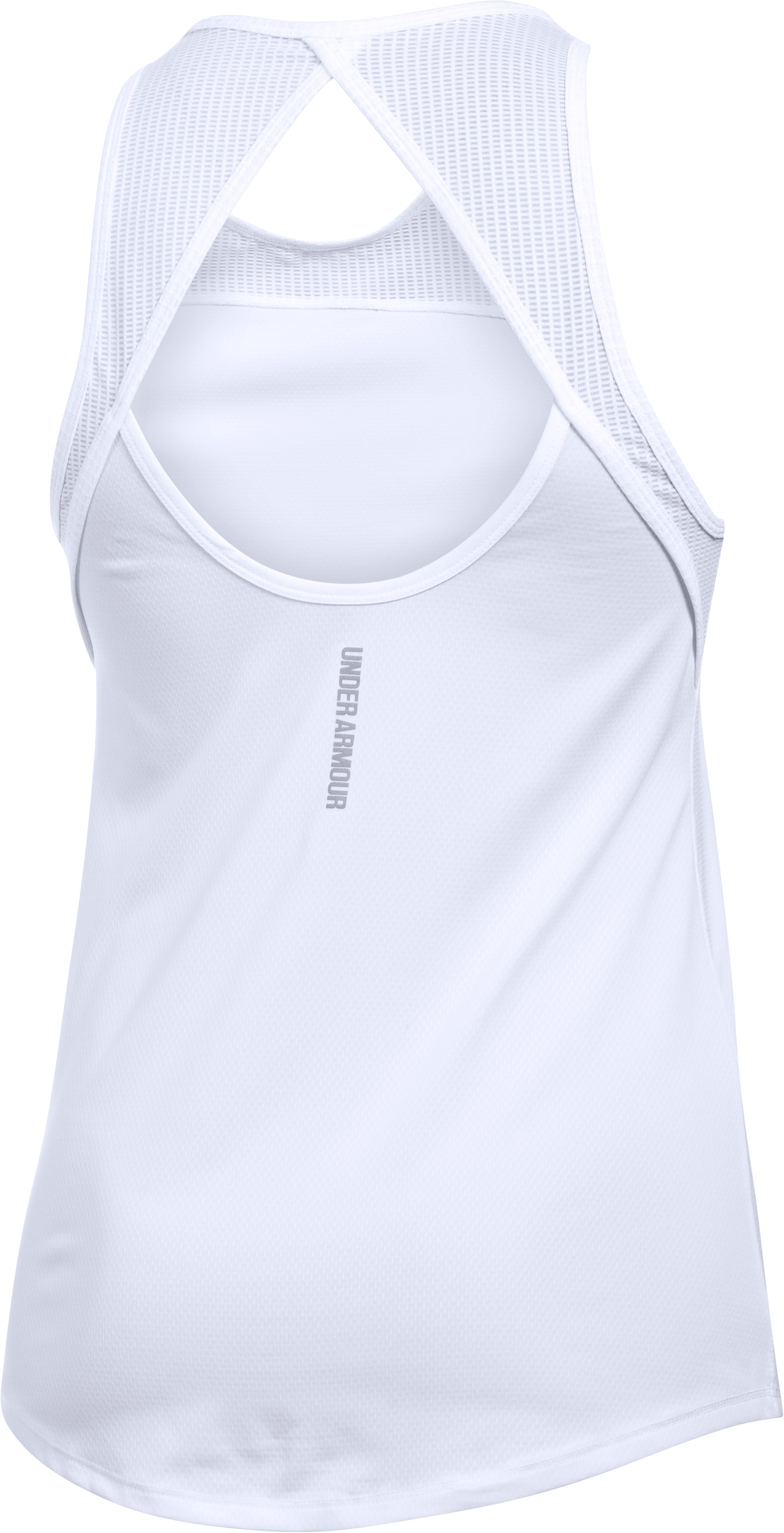 Women's UA Fly-By Fitted Tank, White, undefined