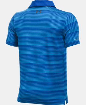 Boys' UA coldblack® Chip In Stripe Polo