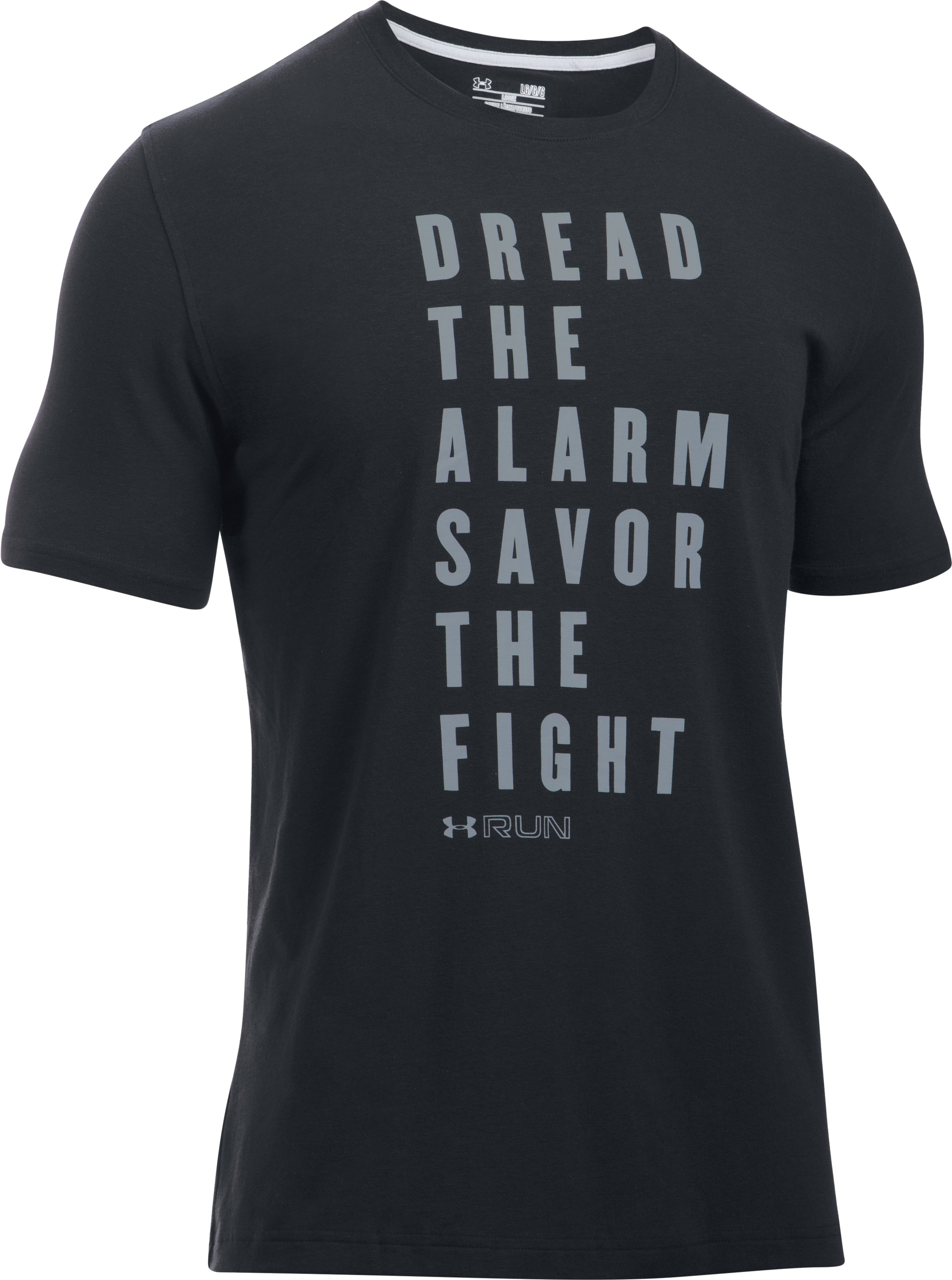 Men's UA Run Dread/Fight T-Shirt, Black , undefined