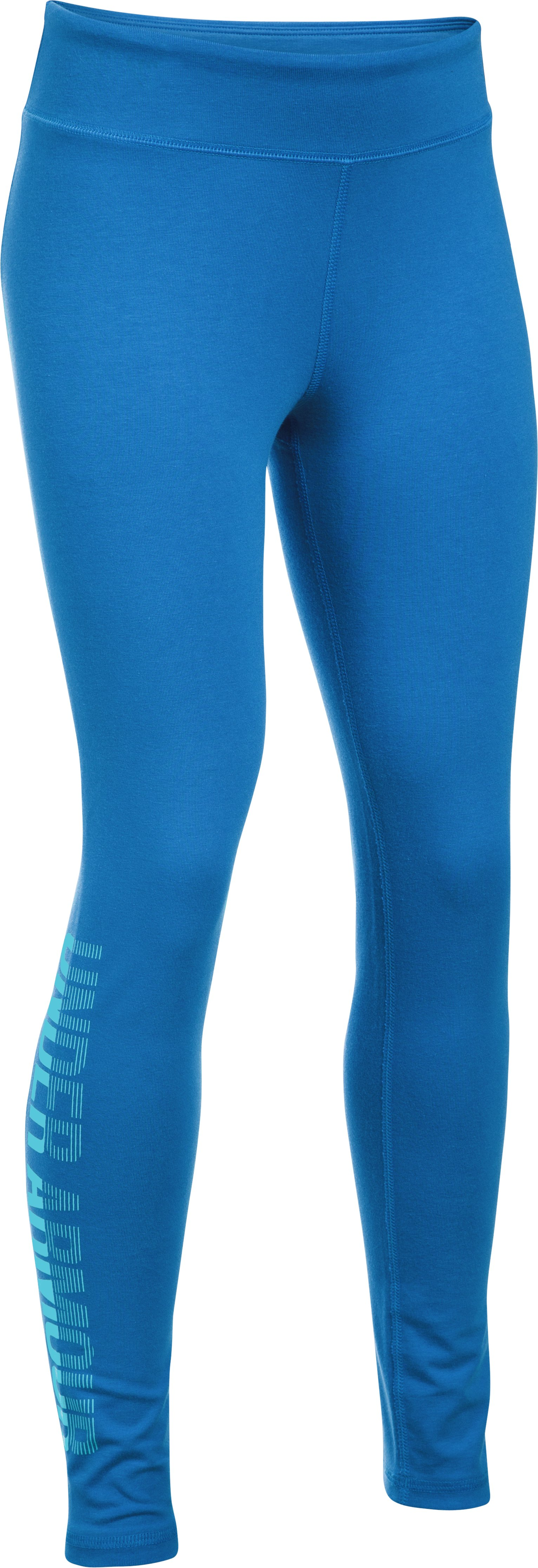 Girls' UA Favorite Knit Graphic Leggings, Mediterranean, undefined