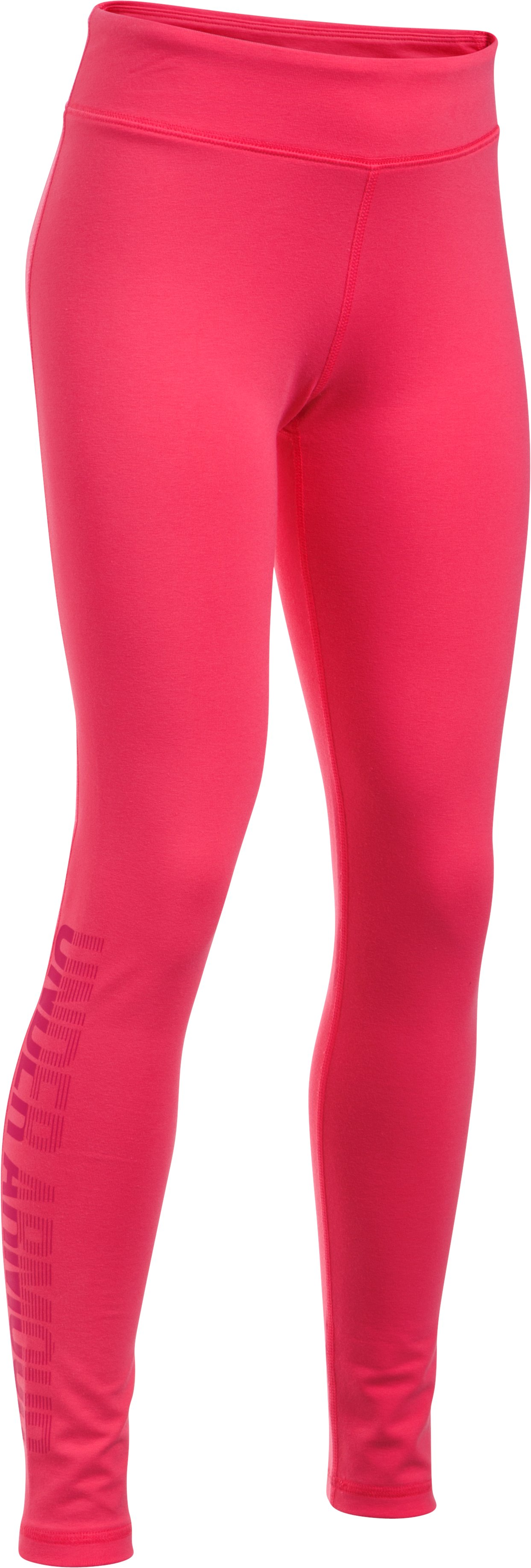 Girls' UA Favorite Knit Graphic Leggings, GALA, zoomed image