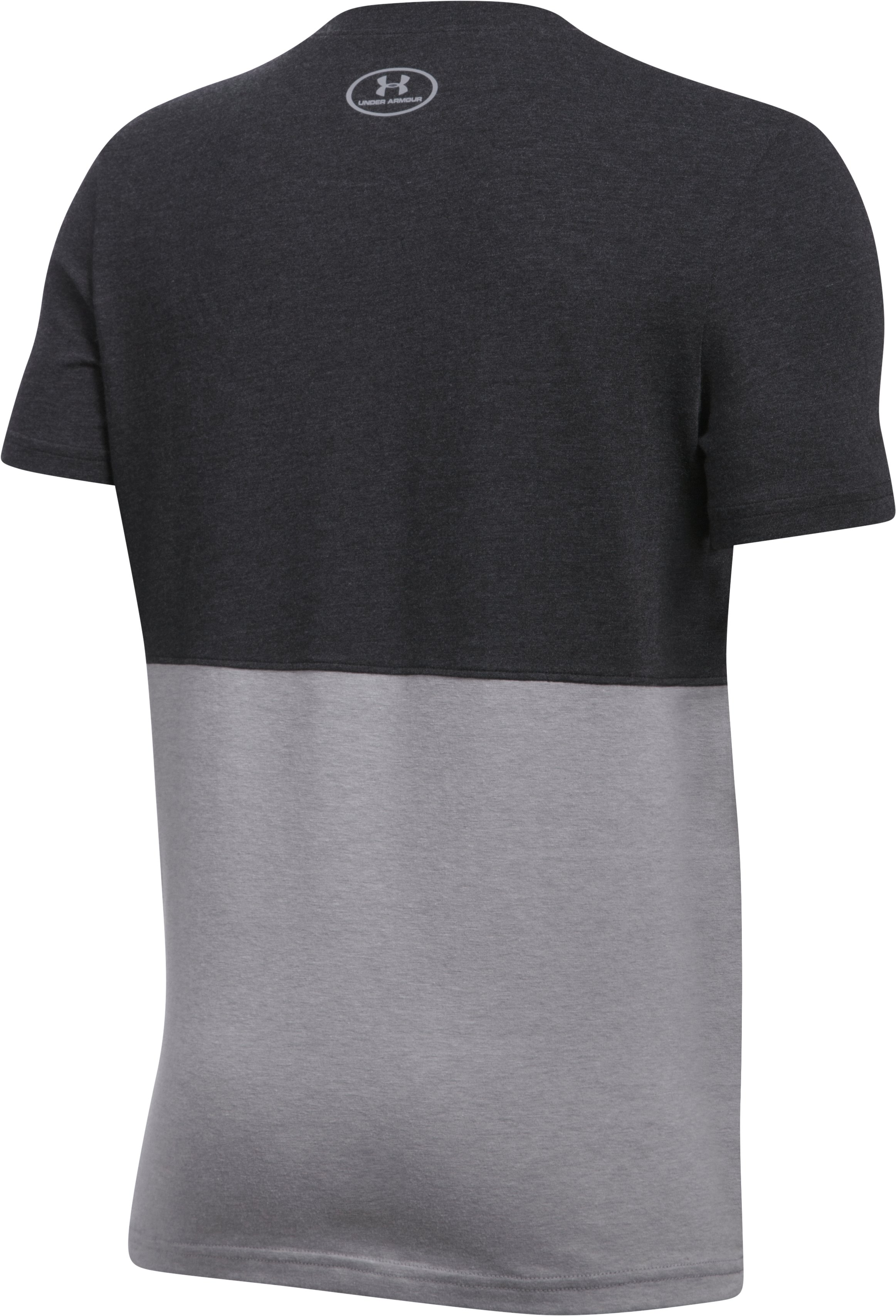 Boys' SC30 Long Line T-Shirt, BLACK MEDIUM HEATHER,