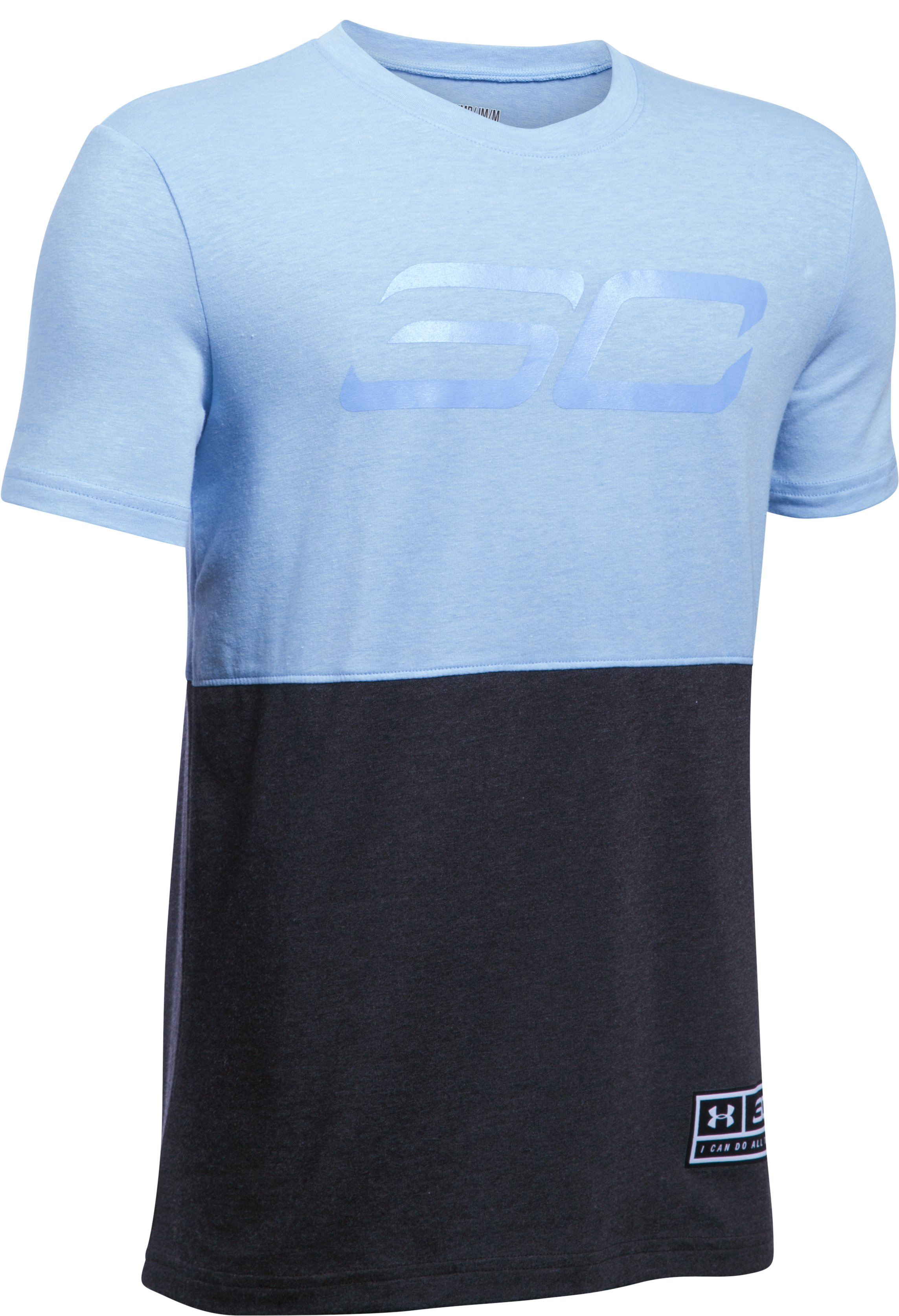 Boys' SC30 Long Line T-Shirt, CAROLINA BLUE MEDIUM HEATHER,