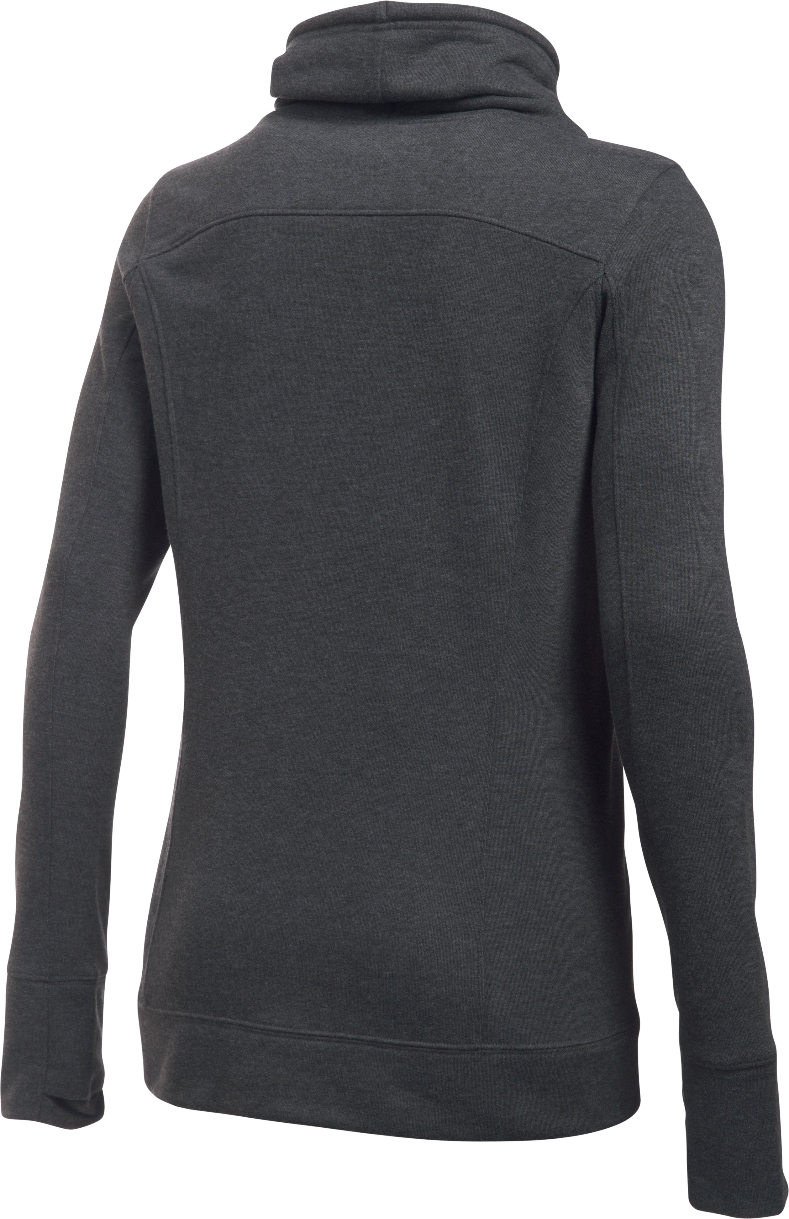 Women's UA Featherweight Fleece Slouchy Popover, Carbon Heather,