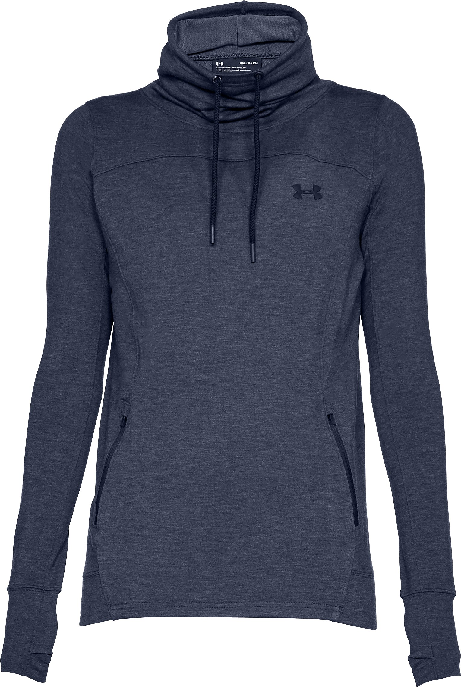 Women's UA Featherweight Fleece Slouchy Popover, Midnight Navy
