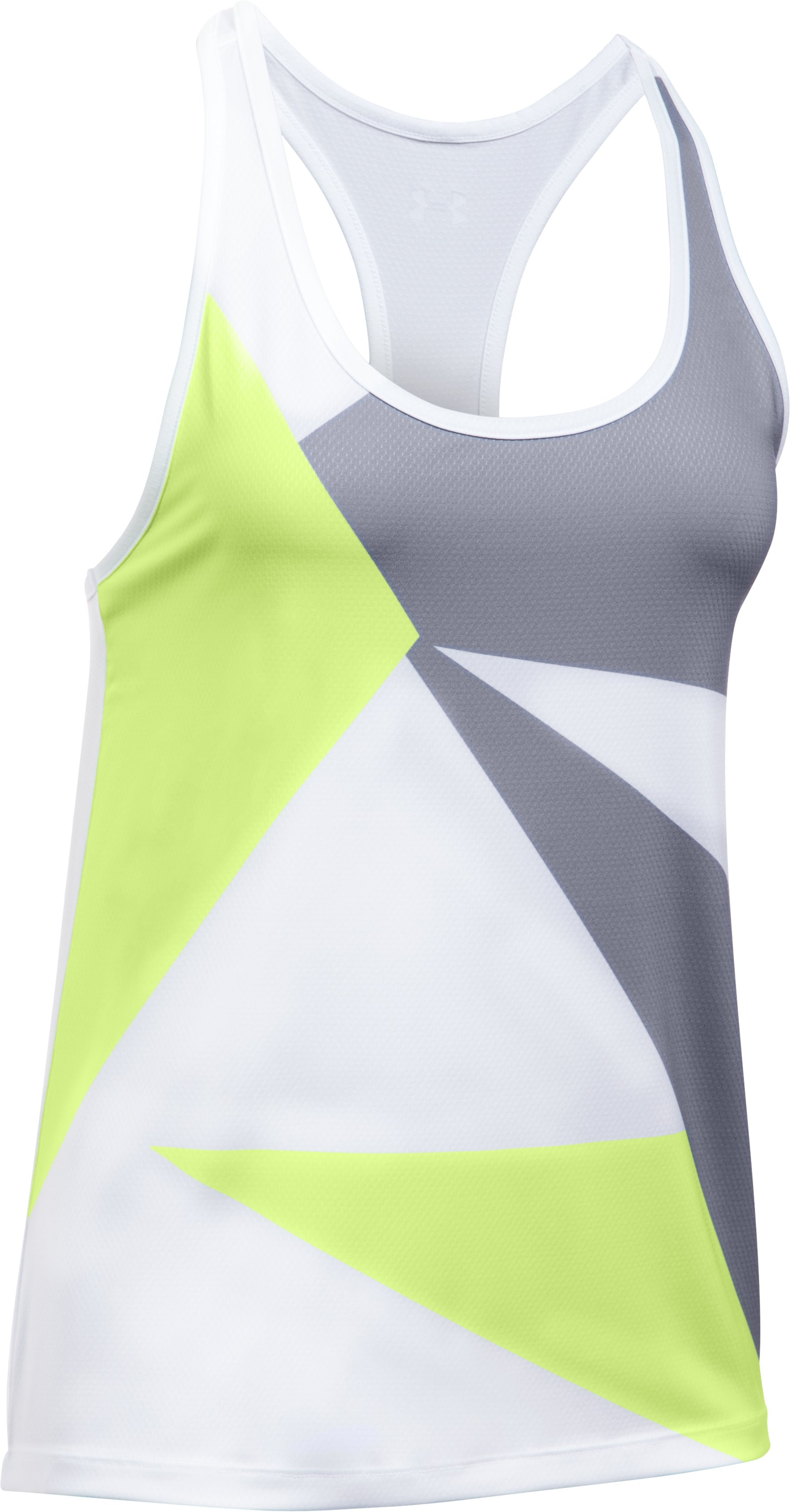 Women's UA Geo Run Tank, PALE MOONLIGHT,