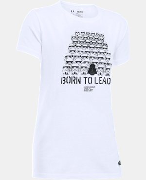 Girls' Star Wars Born To Lead UA T-Shirt LIMITED TIME: FREE U.S. SHIPPING 1 Color $24.99