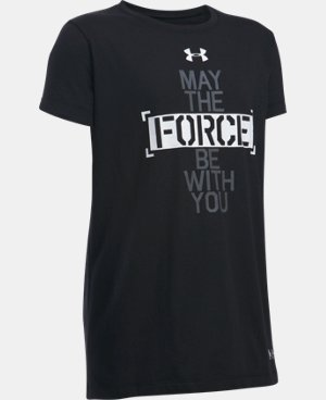 Girls' Star Wars Force Be With You UA T-Shirt LIMITED TIME: FREE U.S. SHIPPING 1 Color $24.99
