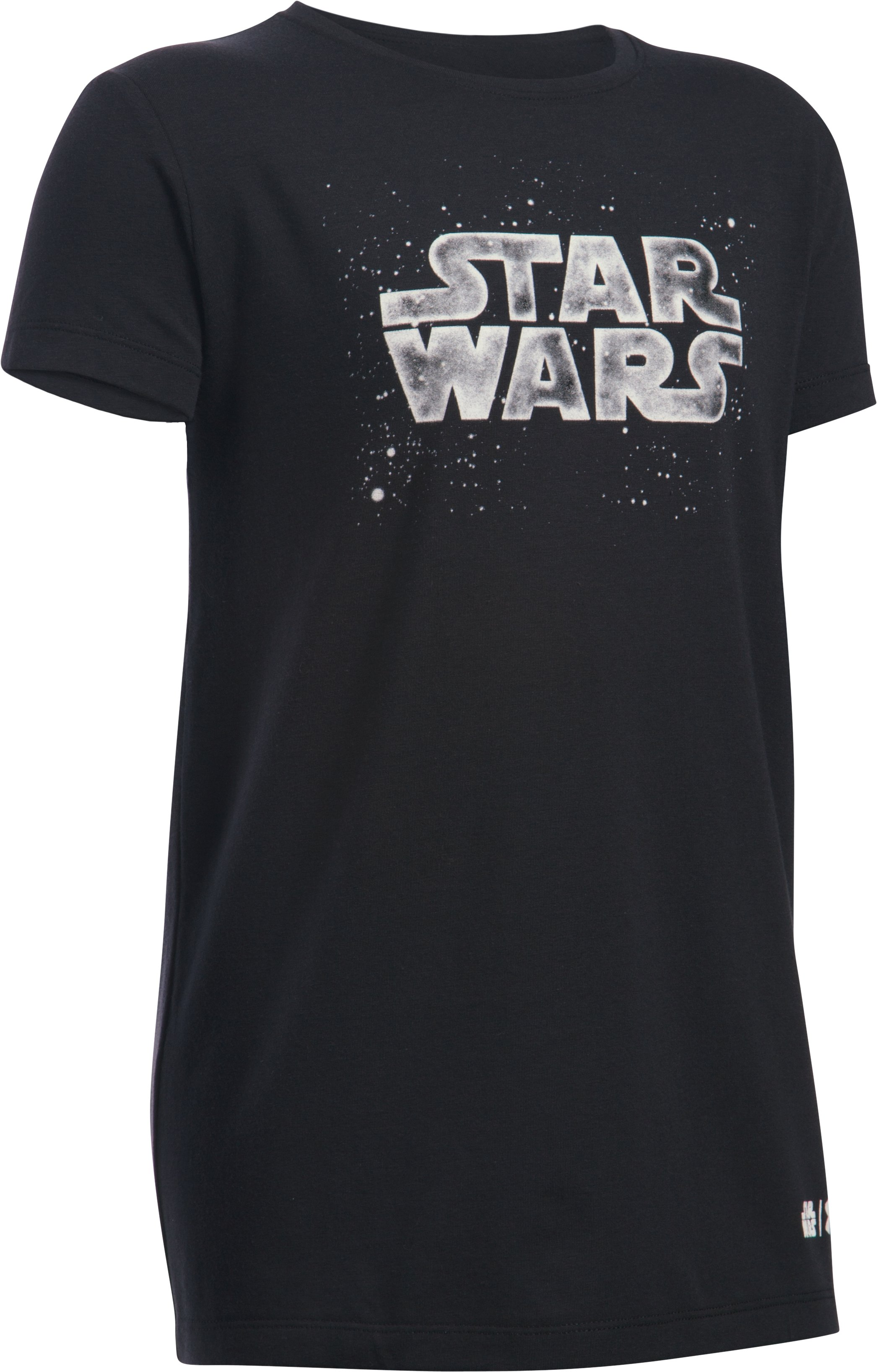 Girls' Star Wars UA T-Shirt, Black , undefined