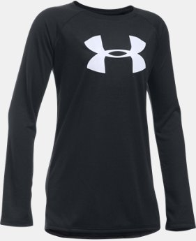 Best Seller Girls' UA Big Logo Long Sleeve T-Shirt LIMITED TIME: FREE SHIPPING 2 Colors $24.99