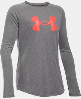 Girls' UA Big Logo Long Sleeve T-Shirt  2 Colors $17.99