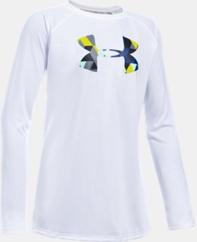 Girls' UA Big Logo Long Sleeve T-Shirt   $22.99