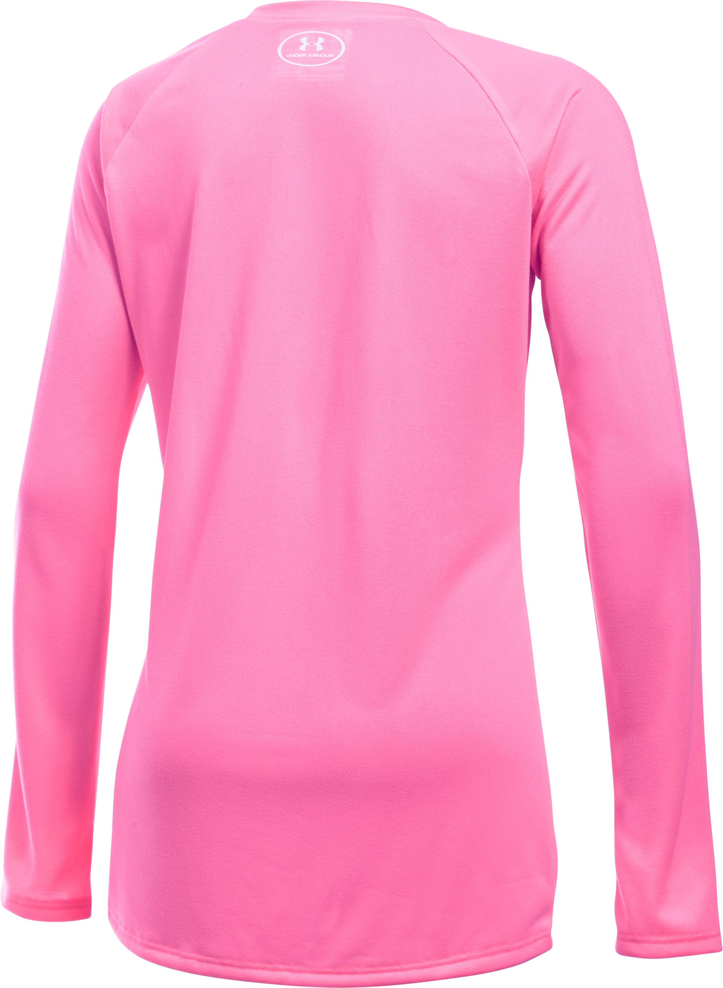 Girls' UA Big Logo Long Sleeve T-Shirt, PINK PUNK,