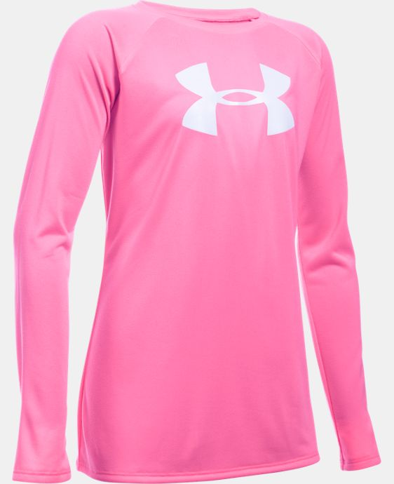 Girls' UA Big Logo Long Sleeve T-Shirt  2 Colors $24.99