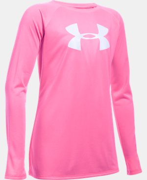 Girls' UA Big Logo Long Sleeve T-Shirt LIMITED TIME: FREE U.S. SHIPPING 7 Colors $18.74