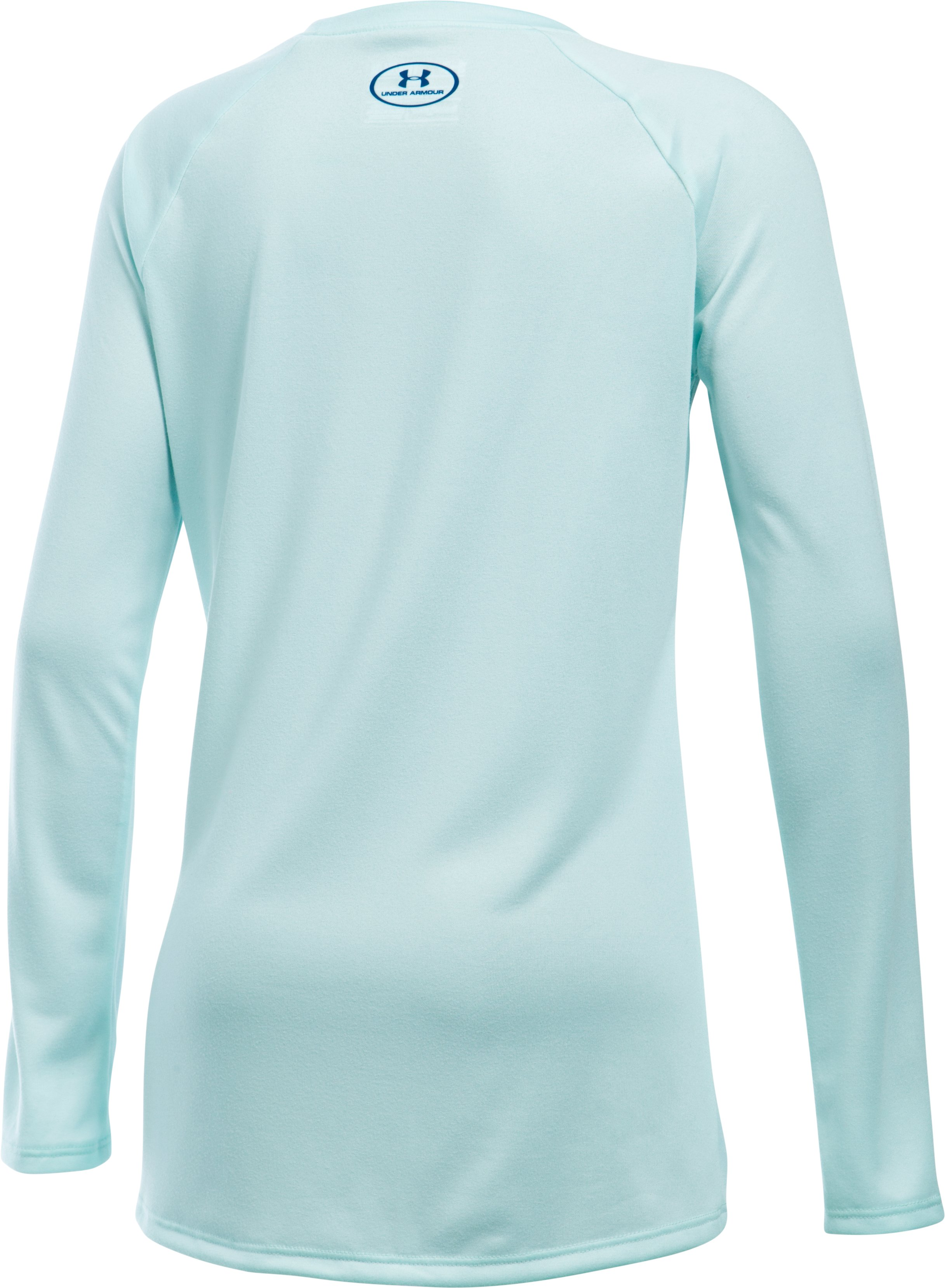 Girls' UA Big Logo Long Sleeve T-Shirt, AQUA FALLS,