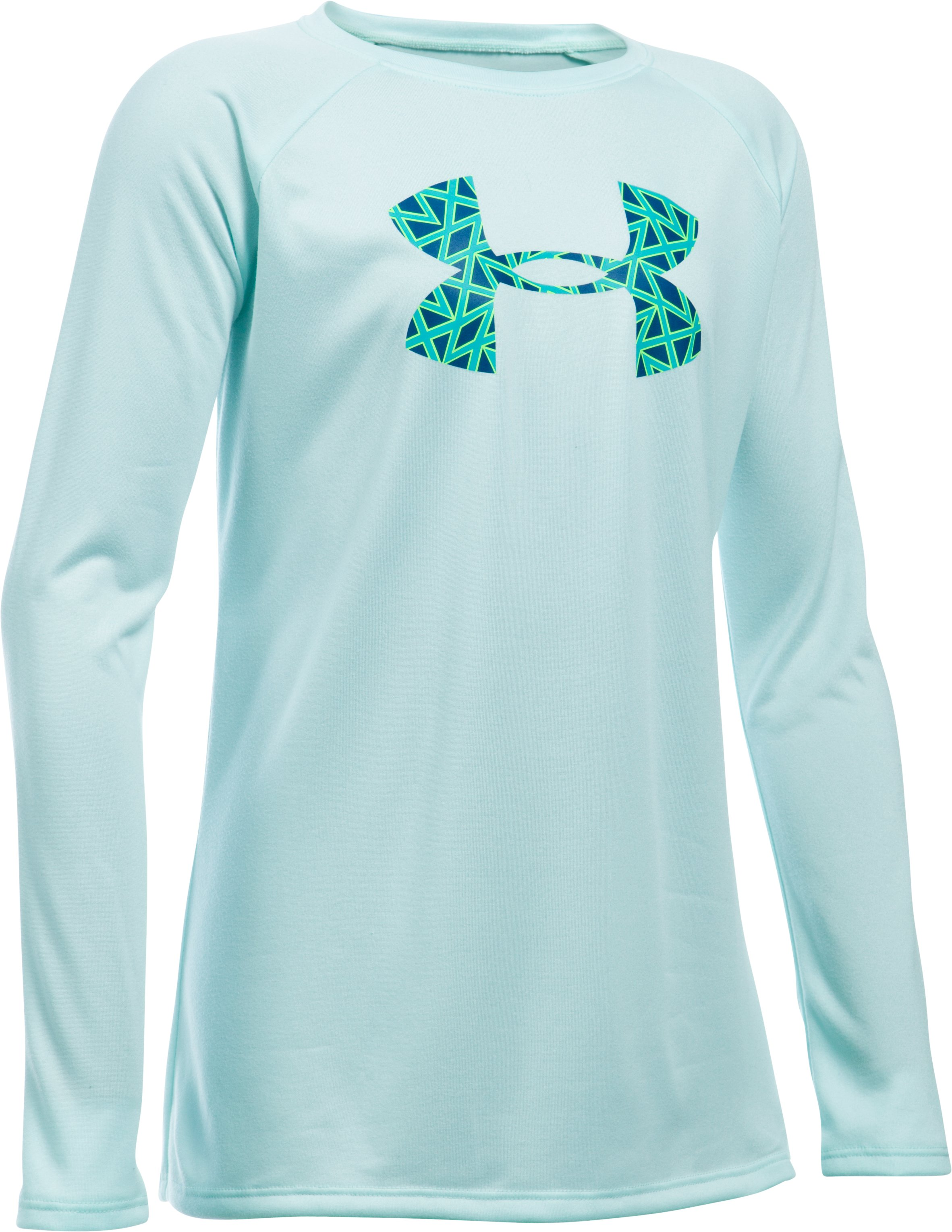 Girls' UA Big Logo Long Sleeve T-Shirt, AQUA FALLS