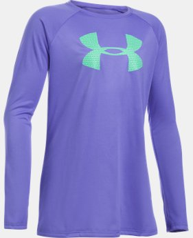 Best Seller Girls' UA Big Logo Long Sleeve T-Shirt  4 Colors $24.99
