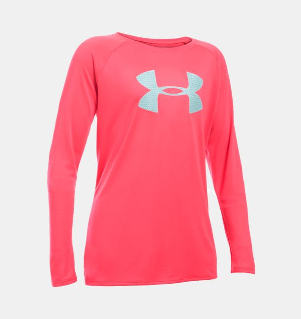 Under Armour Girls Big Logo Long Sleeve T-Shirt - Multi Colors