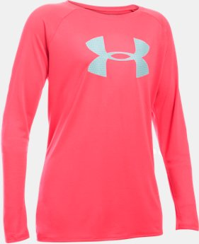 Girls' UA Big Logo Long Sleeve T-Shirt  4 Colors $17.99 to $18.99