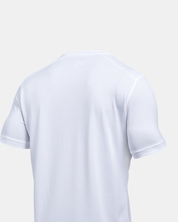 Men's UA Microthread Match Jersey, White, pdpMainDesktop image number 4
