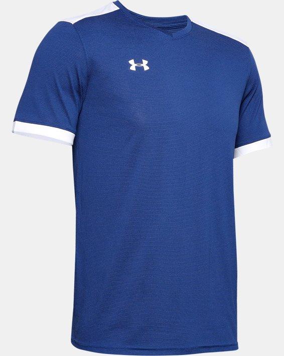 Men's UA Microthread Match Jersey, Blue, pdpMainDesktop image number 8