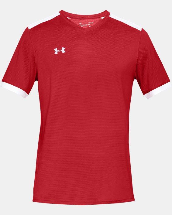 Men's UA Microthread Match Jersey, Red, pdpMainDesktop image number 4