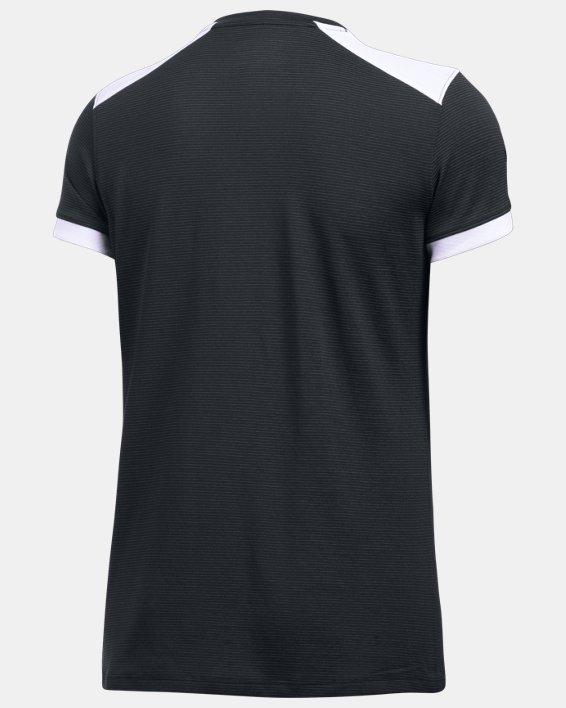 Women's UA Microthread Match Jersey, Black, pdpMainDesktop image number 4
