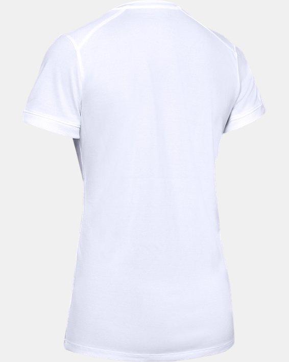 Women's UA Microthread Match Jersey, White, pdpMainDesktop image number 7