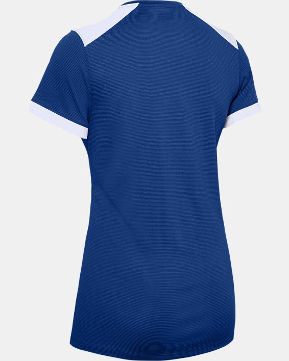 Women's UA Microthread Match Jersey, Blue, pdpMainDesktop image number 7
