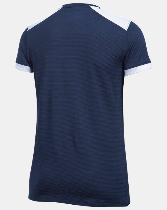 Women's UA Microthread Match Jersey, Navy, pdpMainDesktop image number 4