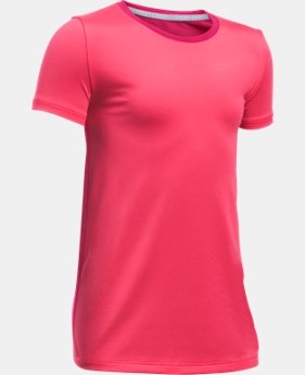 Girls' UA Armour® Short Sleeve  1 Color $13.49