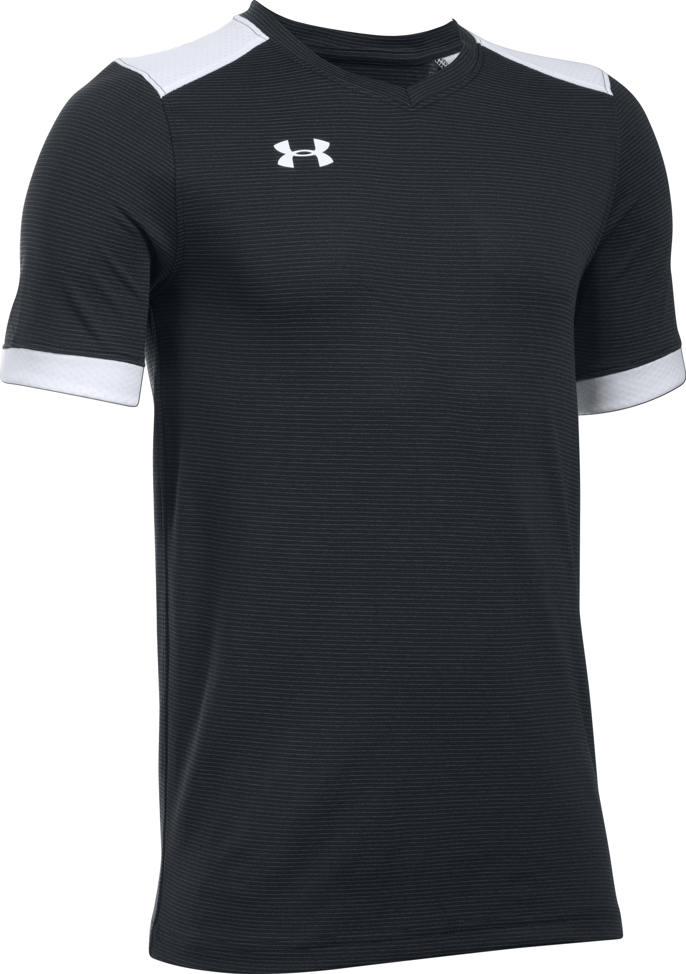Kids' UA Threadborne Match Jersey, Black ,
