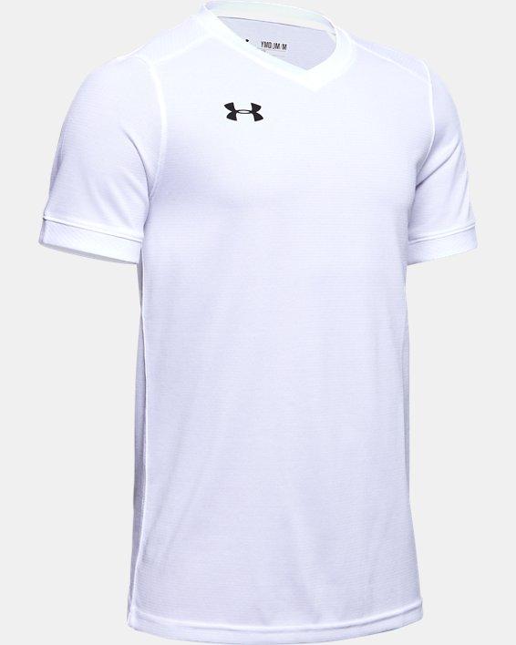 Kids' UA Threadborne Match Jersey, White, pdpMainDesktop image number 1