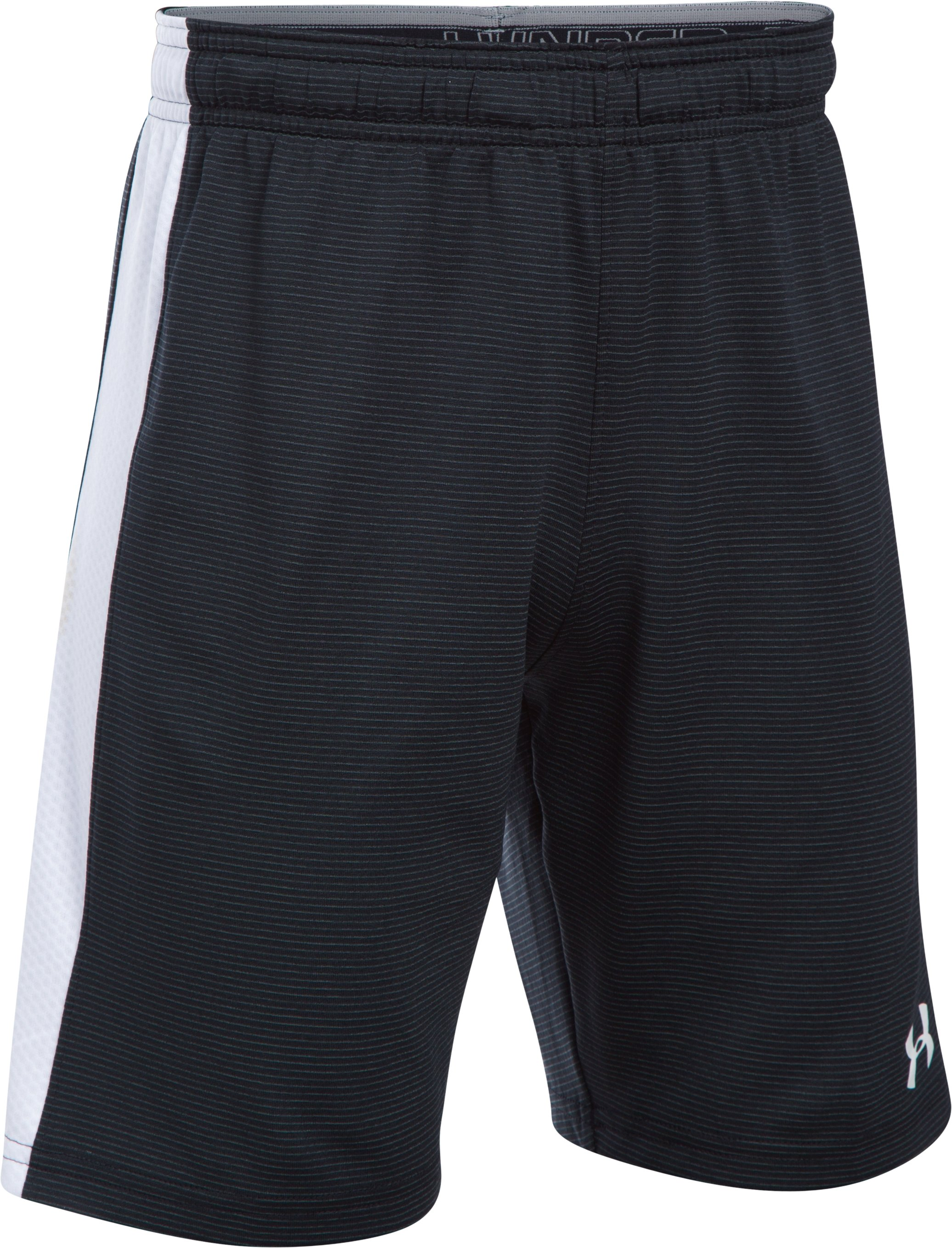 Boys' UA Threadborne Match Shorts, Black ,