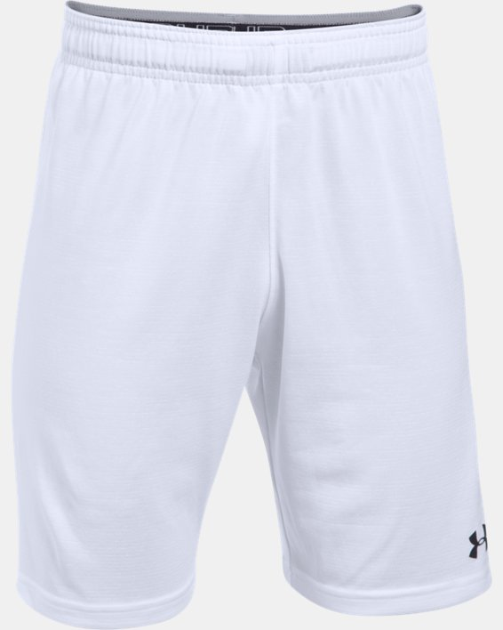 Boys' UA Threadborne Match Shorts, White, pdpMainDesktop image number 0
