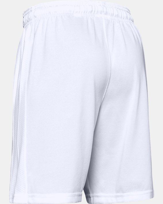 Boys' UA Threadborne Match Shorts, White, pdpMainDesktop image number 2