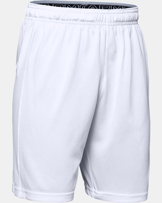 Boys' UA Threadborne Match Shorts, White, pdpMainDesktop image number 1