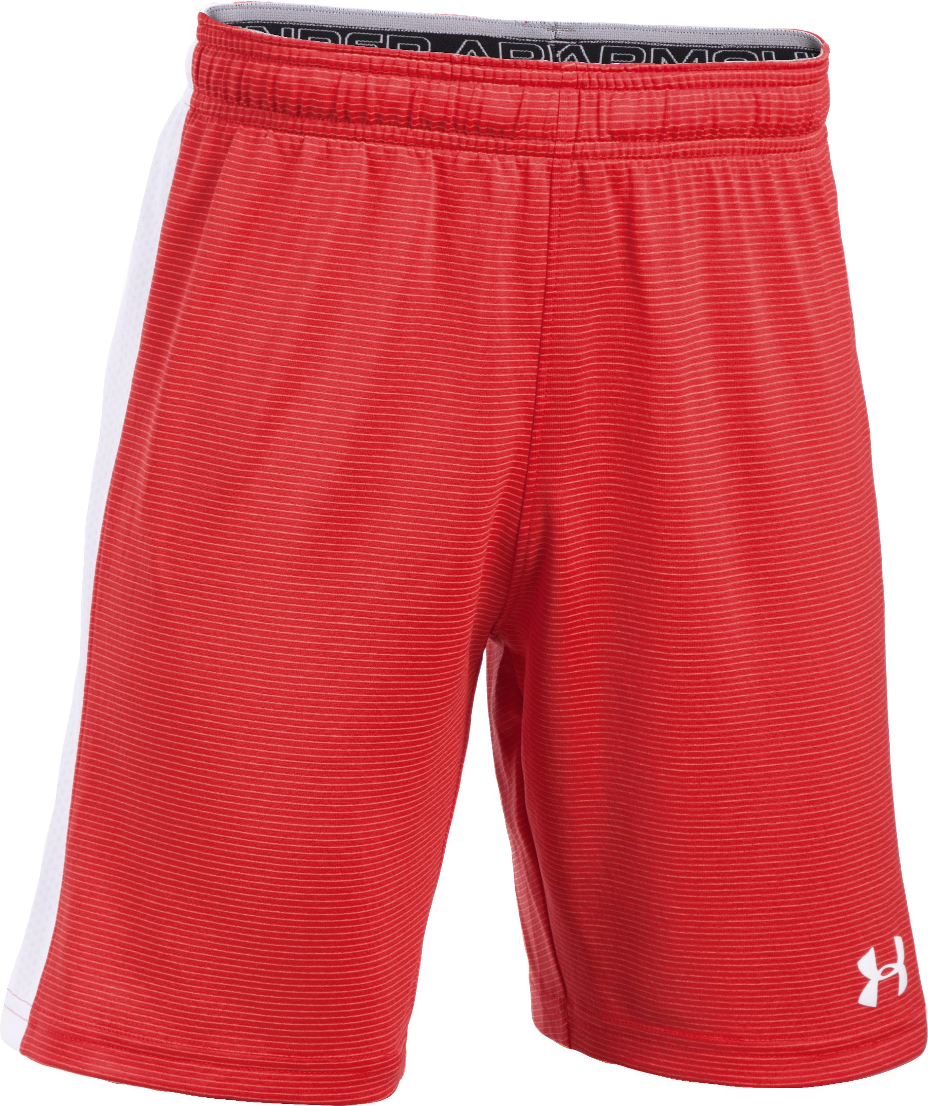 Boys' UA Threadborne Match Shorts, Red