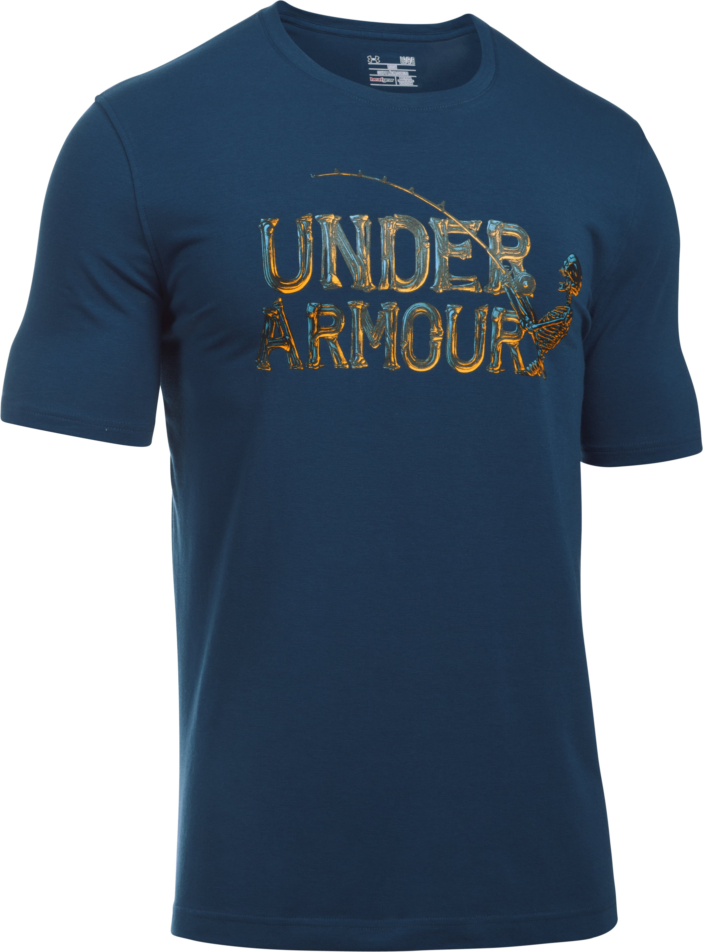 Men's UA Bad Fish T-Shirt, BLACKOUT NAVY,
