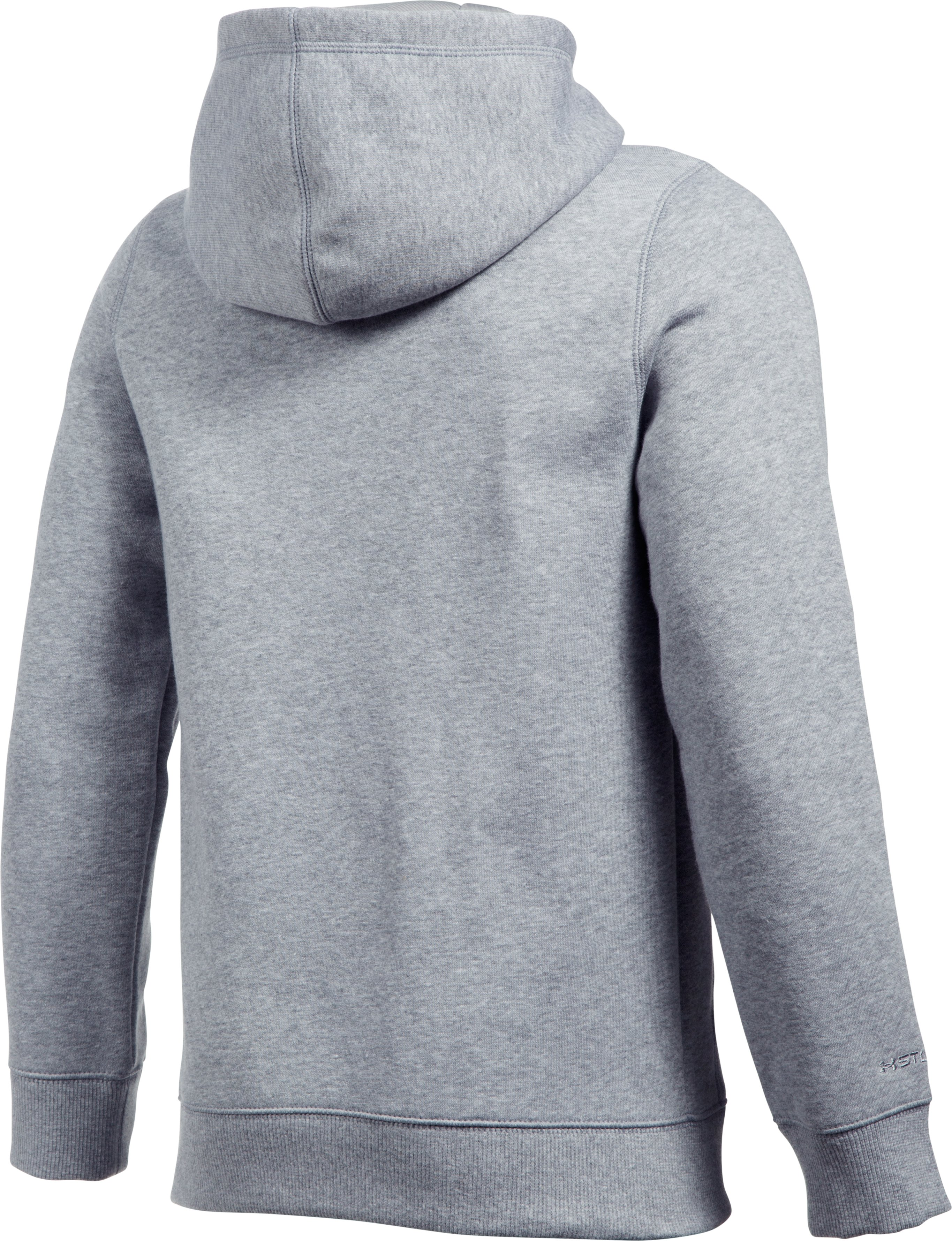 Boys' UA Freedom Logo Rival Hoodie, True Gray Heather,