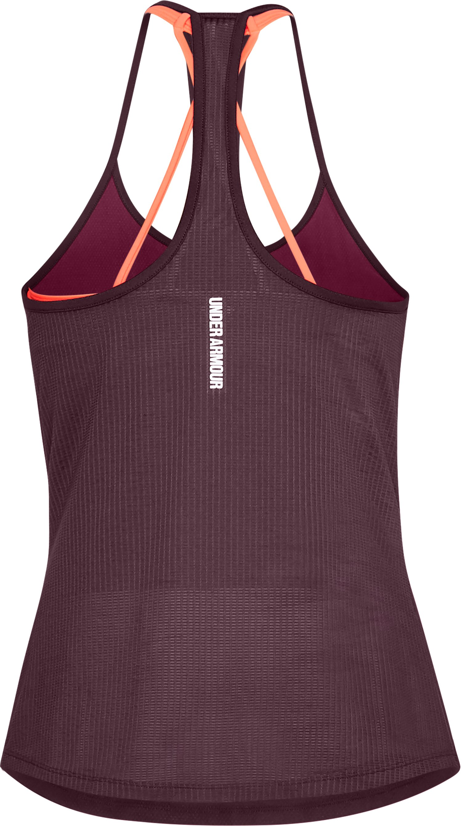 Women's UA Fly-By Racerback Tank, BLACK CURRANT, undefined