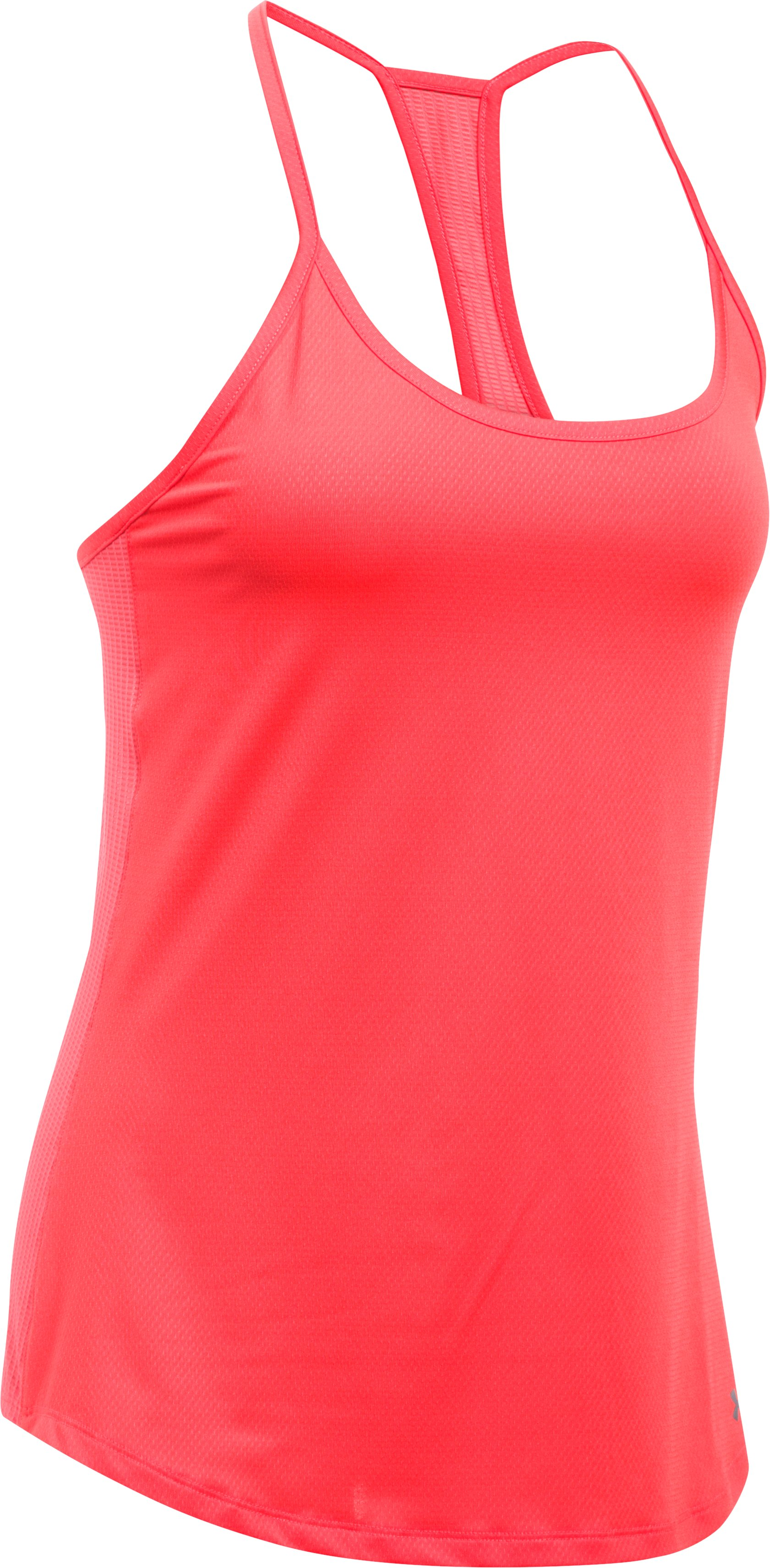 Women's UA Fly-By Racerback Tank, MARATHON RED, undefined