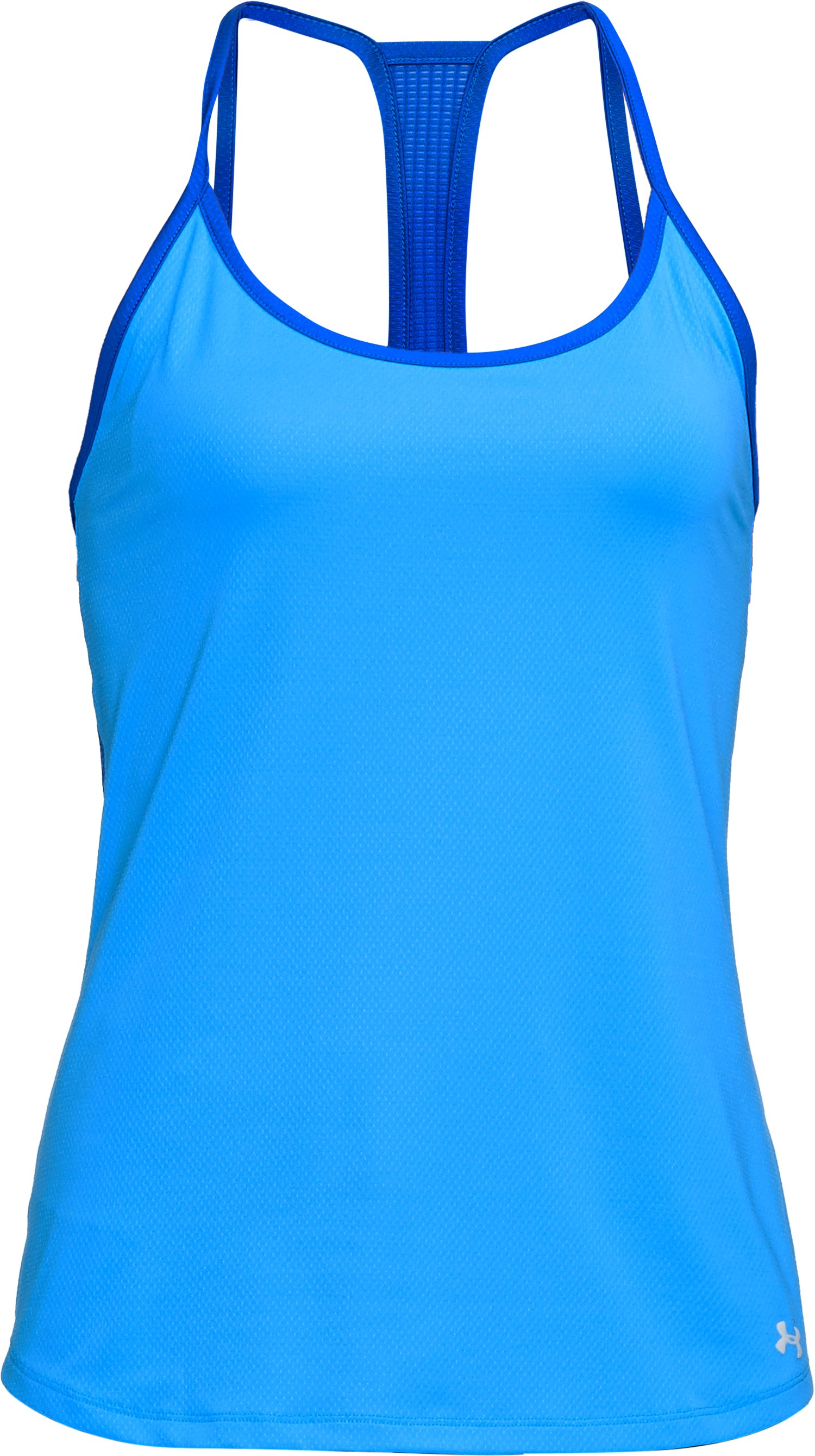 Women's UA Fly-By Racerback Tank, MAKO BLUE, undefined