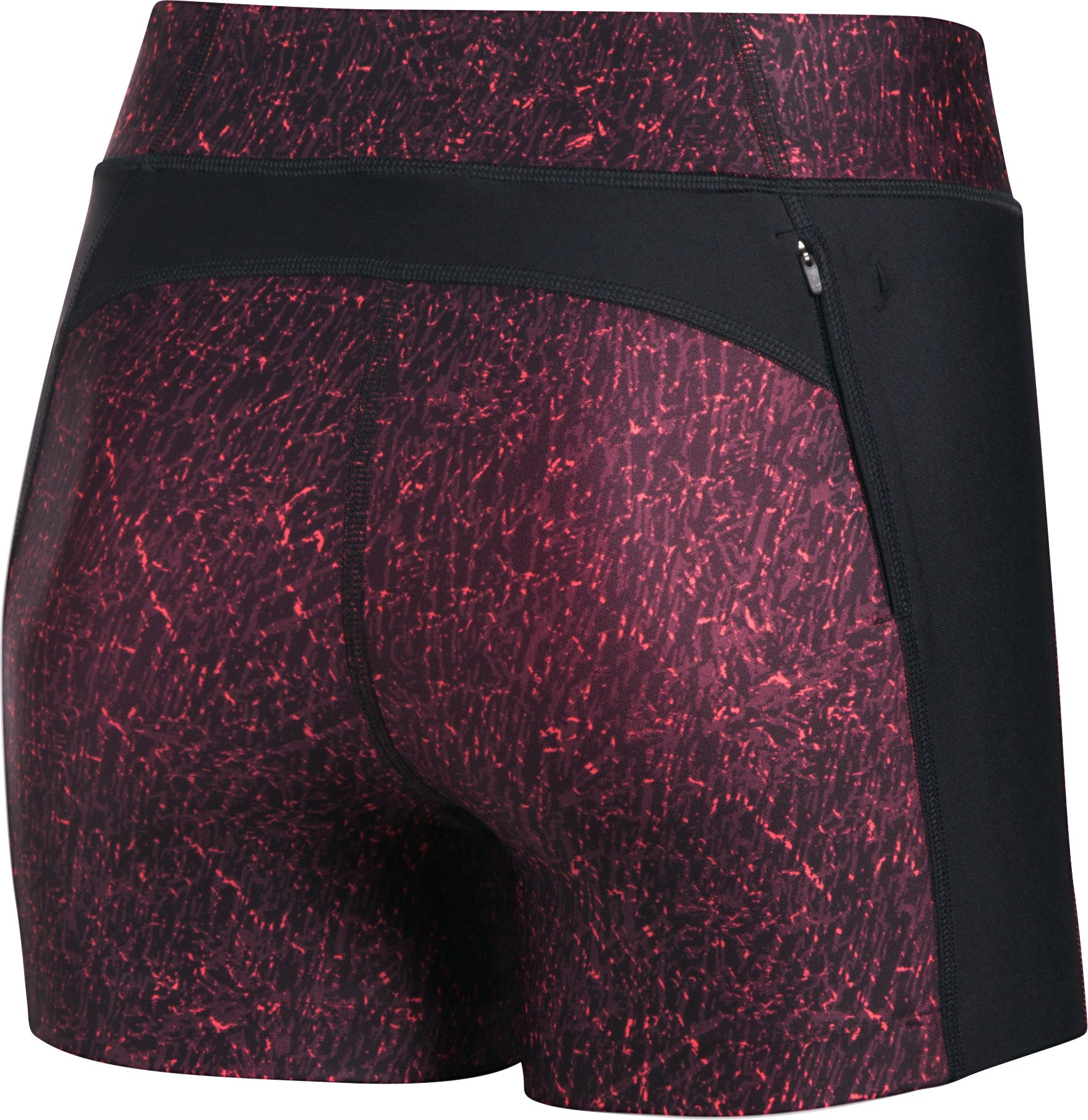 Women's UA Fly-By Printed Compression Shorty, Black , undefined