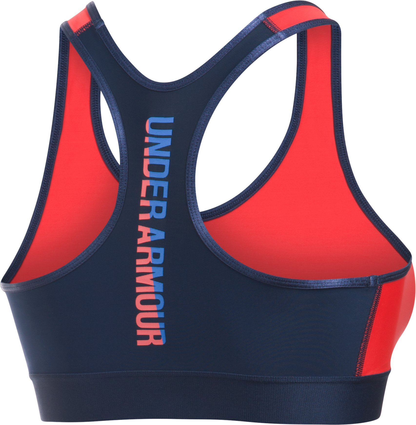Women's Armour® Mid UA Graphic Sports Bra, Pomegranate,