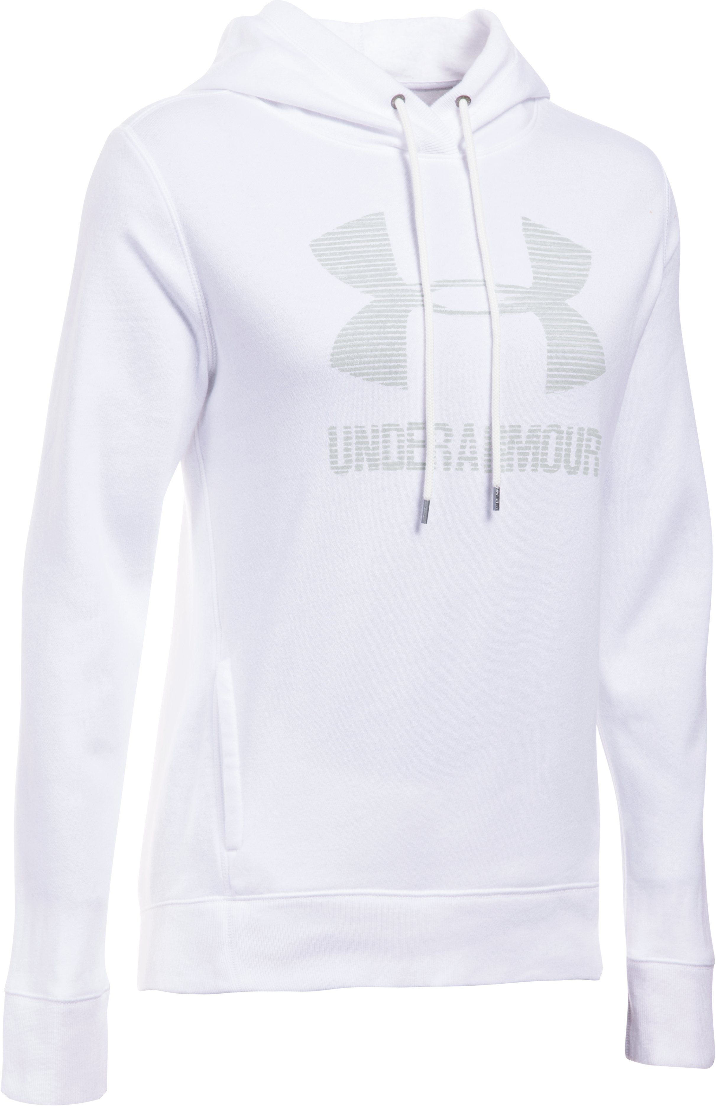 Women's UA Sportstyle Favorite Fleece Hoodie, White